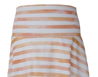 BIO Skirt Striped - Watercolor Stripes - Orange Pink