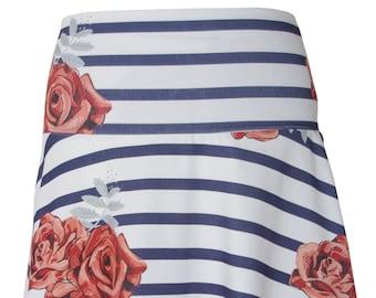 BIO Skirt Striped - Roses