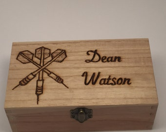 Personalised Wooden Darts Case