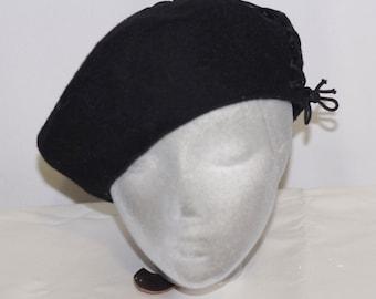 Black beret | Etsy