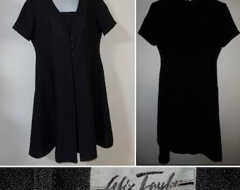 Vintage Alix Taylor Petite Little Black Dress Size 12