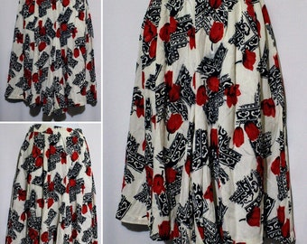 Vintage RUSS Multicolor Skirt/Short Size 14
