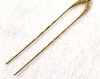 84a21dfc844 Antique 12KT Gold Hair Pin Eyeglass Holder