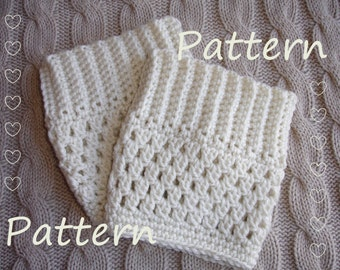 Tutorial for Crochet Pattern Boot Cuff Boot Topper Pattern DIY Instant Download PDF