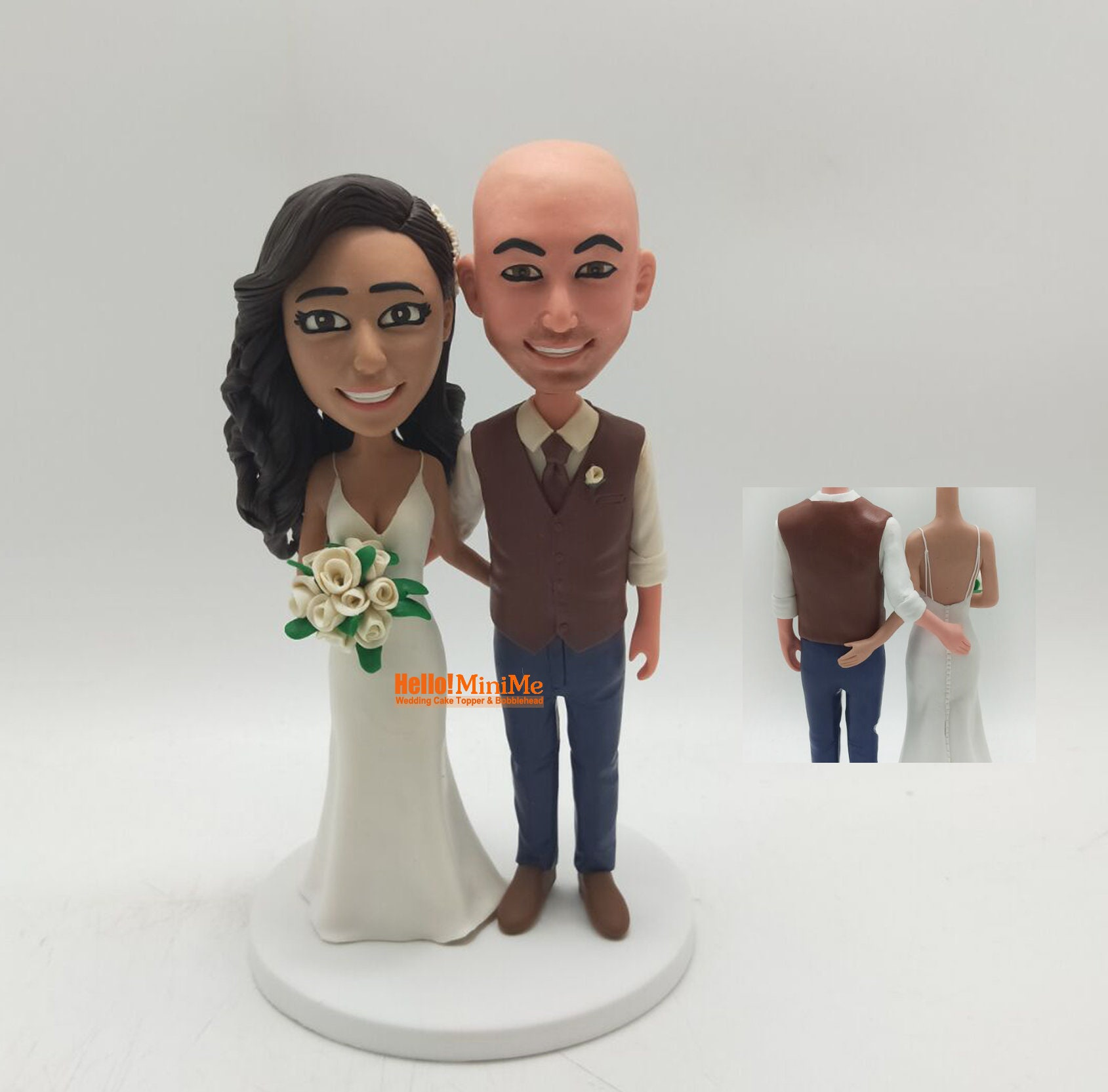 Mickey mouse hat Wedding cake topper custom Cake topper wedding bobblehead Custom cake toppers personalized wedding gift CT K427