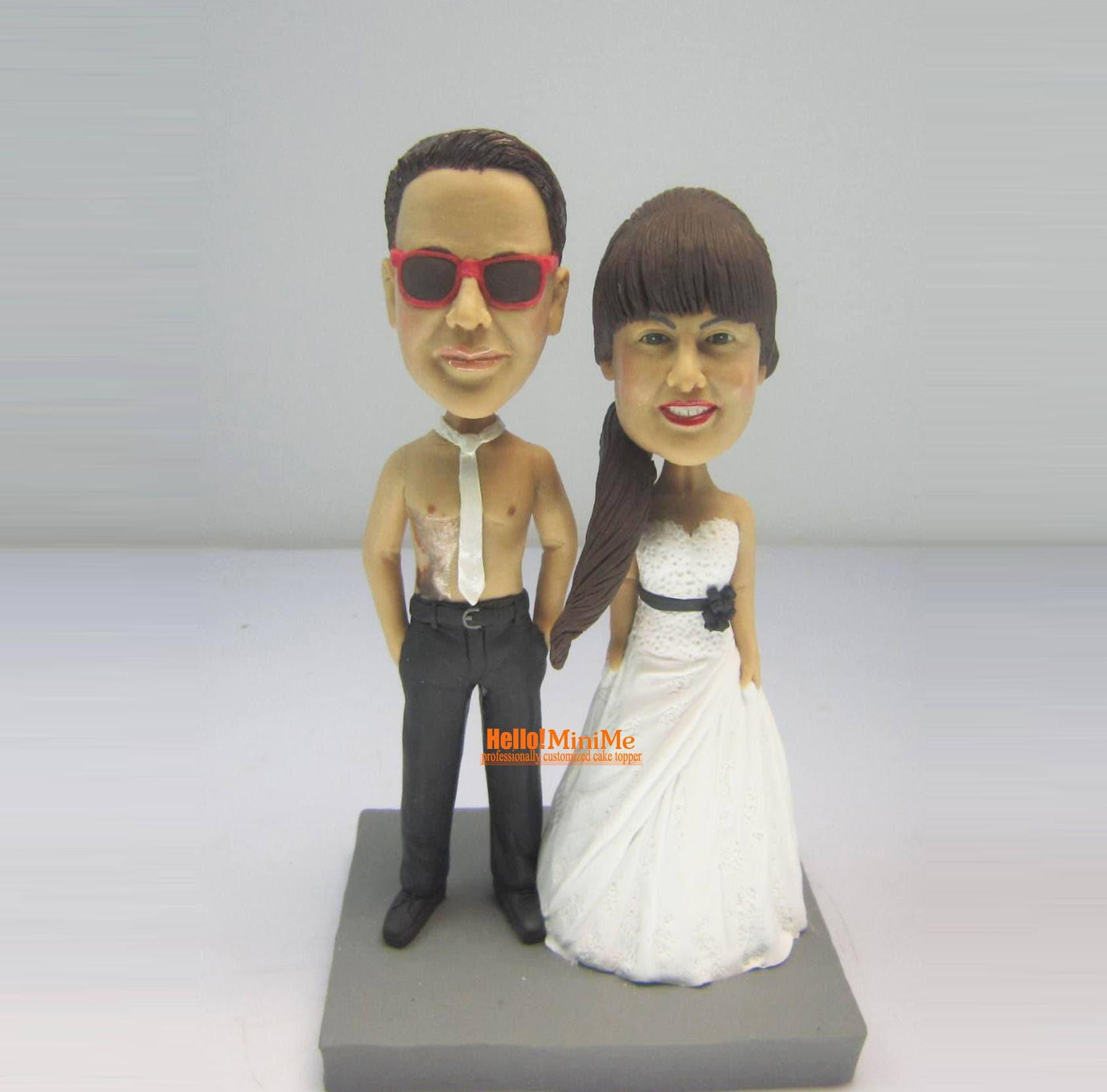 Custom cake topper Wedding cake topper Wedding topper Bobble