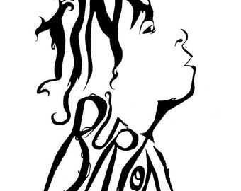 Tim Burton typographic print