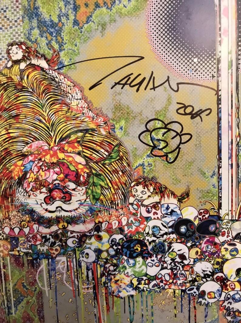 5370dea626ce TAKASHI MURAKAMI Hand SIGNED Flower Drawing Gagosian