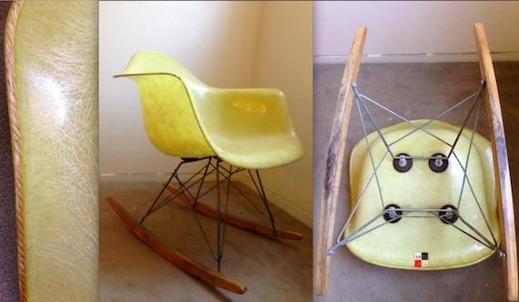 Sedia A Dondolo Rar Eames : Etichetta checkerboard sedia a dondolo di scocca in etsy