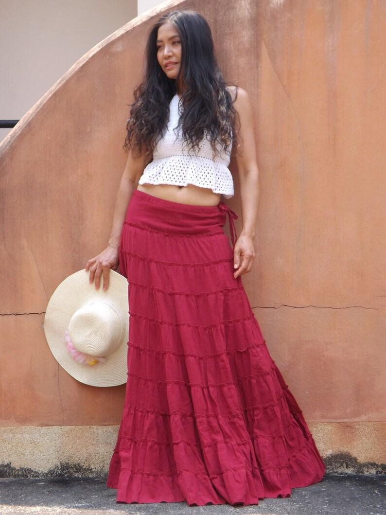 7b6638a225 Long Skirt / Boho Skirt /Maxi Skirt /Full Length Skirt/ Modest | Etsy