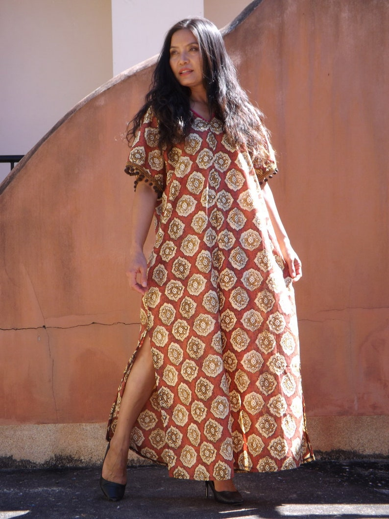 10ee525b34592 Kaftan Dress / Plus Size Kaftan / Plus Size Tunic /Beach | Etsy