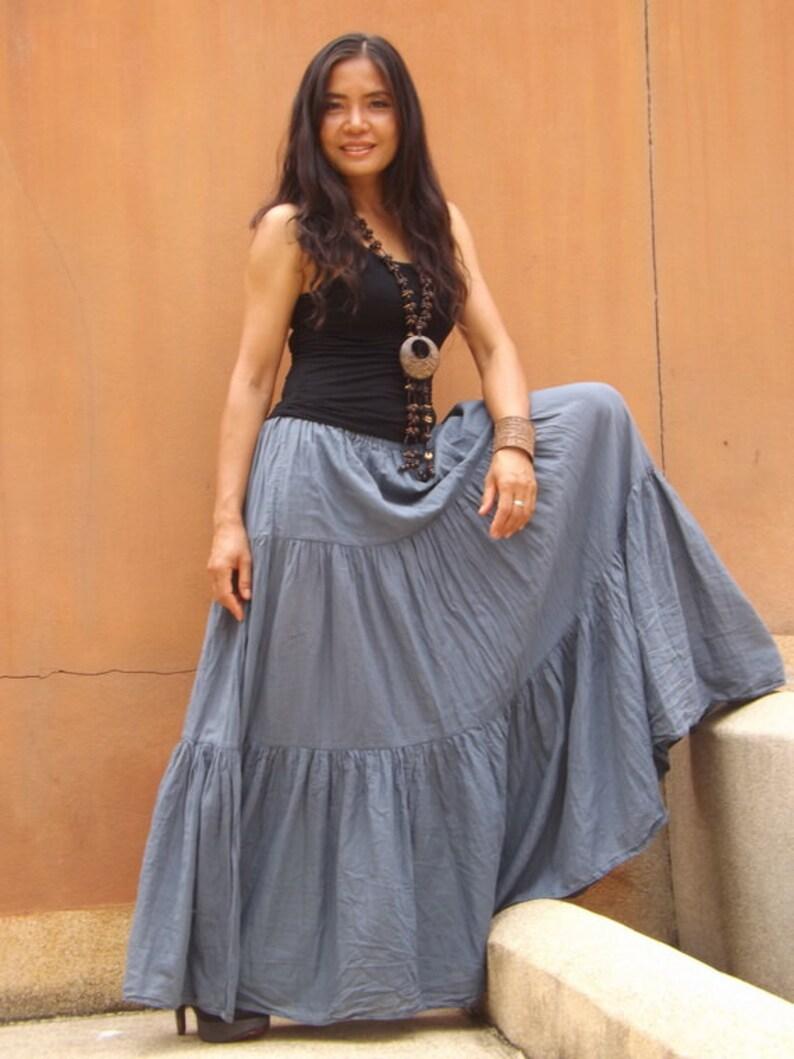 30b539c813 Long Skirt / Long Boho Skirt / Maxi Skirt / Full Length Skirt | Etsy