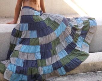 Soft and Floaty Boho Skirt  ...Patch Work Skirt   ...Full Length Skirt