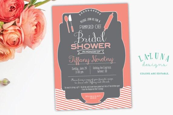 Kitchen bridal shower invitation pampered chef bridal shower etsy image 0 filmwisefo