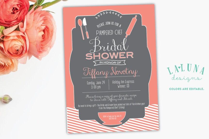 Wedding Shower Invites.Kitchen Bridal Shower Invitation Pampered Chef Bridal Shower Invite Kitchen Bridal Shower Diy Printable