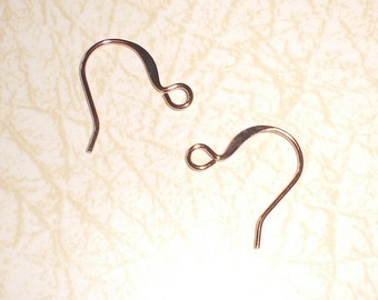 Copper French Earwires Earrings Components Findings Ear Wires Hooks Jewelry Making
