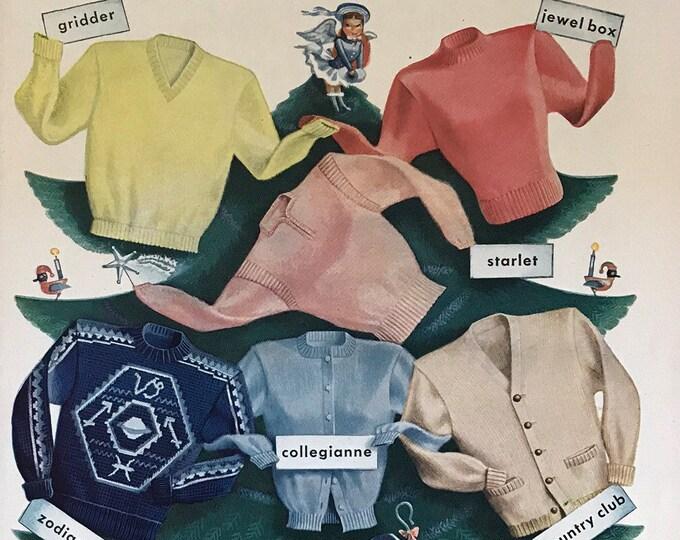 Give Something Wonderful Vintage Jantzen Sweater Advertisement * Sportswear Advertising