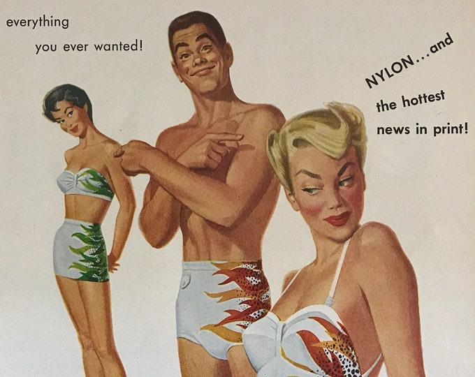 Sea Flame Vintage Jantzen Advertisement * Swimwear
