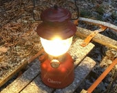 1962 Coleman Lantern Rustic Cabin Decor Red 200A Single Mantle Working Condition