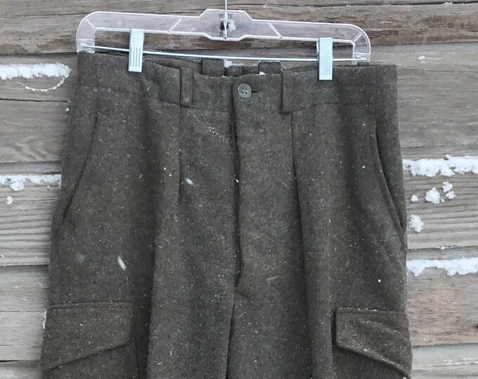 "Swedish Army Wool Snow Pants * 32"" waist"