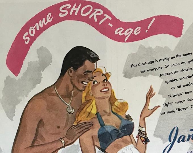 Some SHORT-age! Vintage Jantzen Advertisement * Sportswear