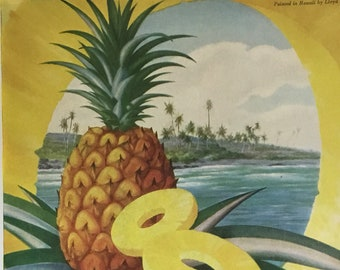 Vintage Dole Pineapple Advertisement * War Time Ephemera