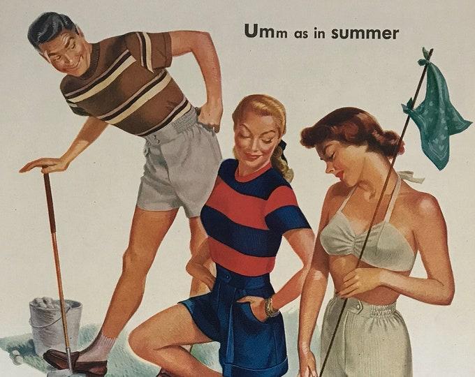 Umm as in Summer Vintage Jantzen Advertisement * Sportsware