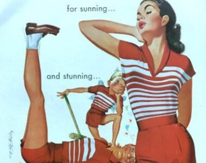 For Sunning....and Stunnung Vintage Jantzen Advertisement * Sportswear
