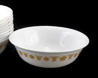 """Corelle Dinnerware * Butterfly Gold 6-1/4"""" Cereal Bowls * Pyrex Compatible * Sold Individually"""