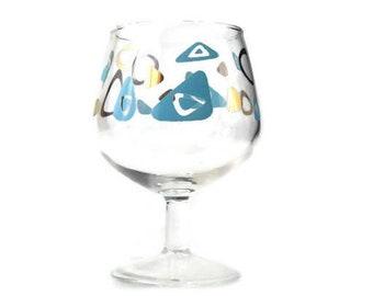 Stemware * Vintage Amoeba Boomerang  Wine Glass * MCM Federal Cocktail Glass