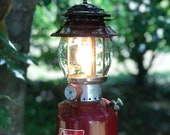1967 Coleman Lantern Rustic Cabin Decor Red 200A Single Mantle Working Condition