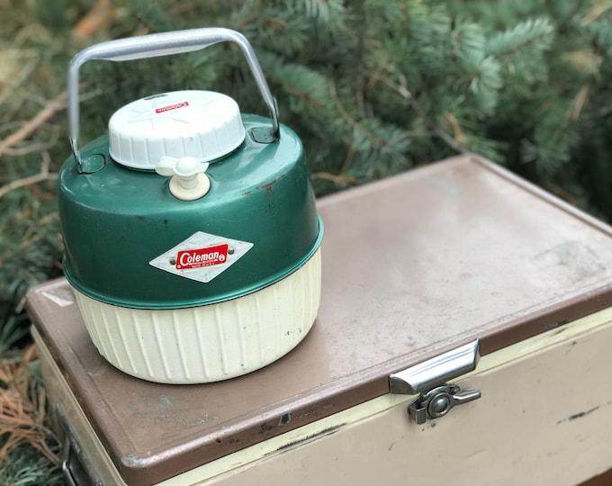 Vintage Coleman Insulated Jug * 1 Gallon Thermos * Picnic Supplies * Diamond Logo Label