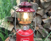 1966 Coleman Lantern Rustic Cabin Decor Red 200A Single Mantle Working Condition