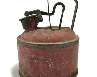 Vintage Gas Can * Red * Underwriters Laboratory Safety Can