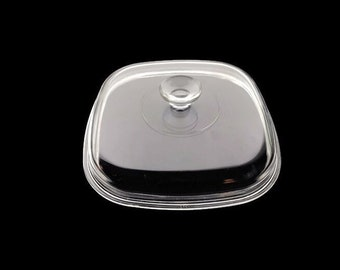 """A-12-C Pyrex Replacement Lid for 10"""" 4 or 5 Quart/Liter Corning Square Casserole or 10"""" Skillet * Large Knob"""
