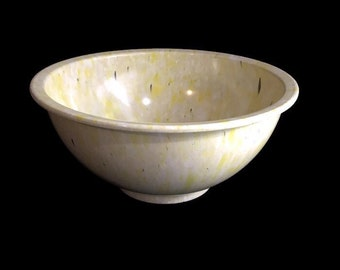 Vintage Texas Ware Mixing Bowl * Melamine Splatter Bowl * Yellow and Black Confetti