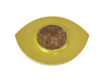 Vintage Dansk Festivaal 'Eyeball' Tray * Yellow Lacquer
