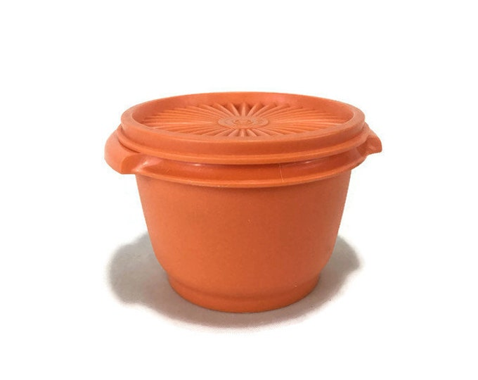 Tupperware Orange Servalier #886 Storage Container