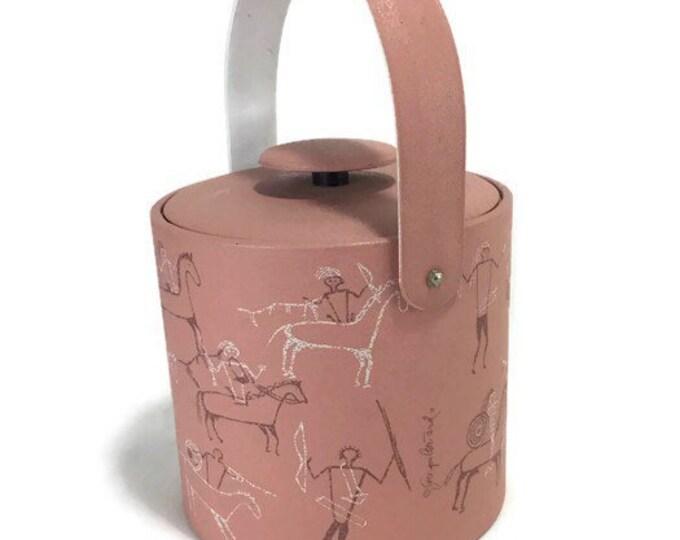 Vintage Ice Bucket * Georges Briard * Western Scenes