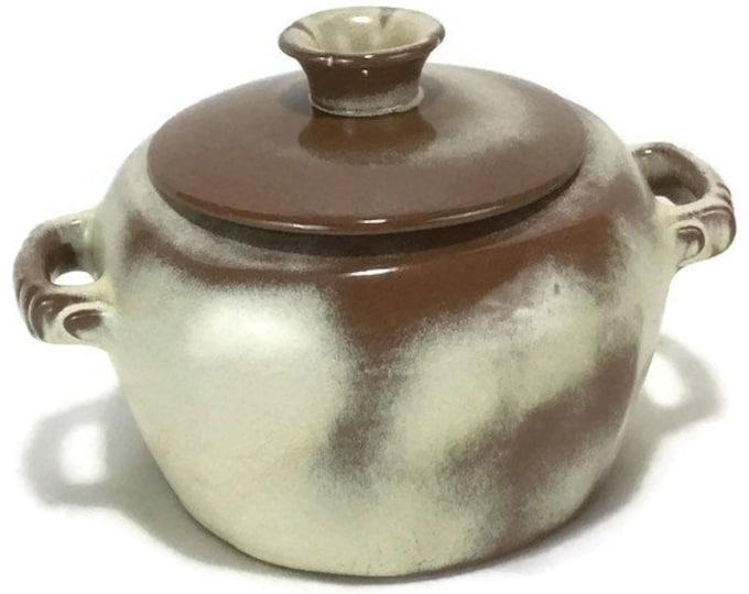 Vintage Frankoma Plainsman Gold Covered Casserole 5W * Bean Pot