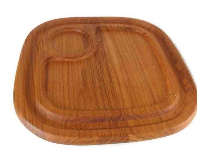 Vintage Mid Century Modern Teak Cheese Board * Danish Modern Wood Cutting Board * Carving Board