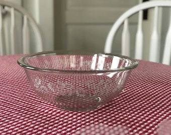 Pyrex Colonial Mist Mixing Bowl * White Lace #325 2-1/2 Quart/Liter