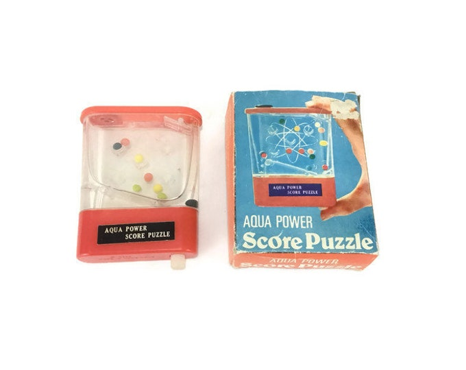 Vintage Toy * Aqua Power Score Puzzle