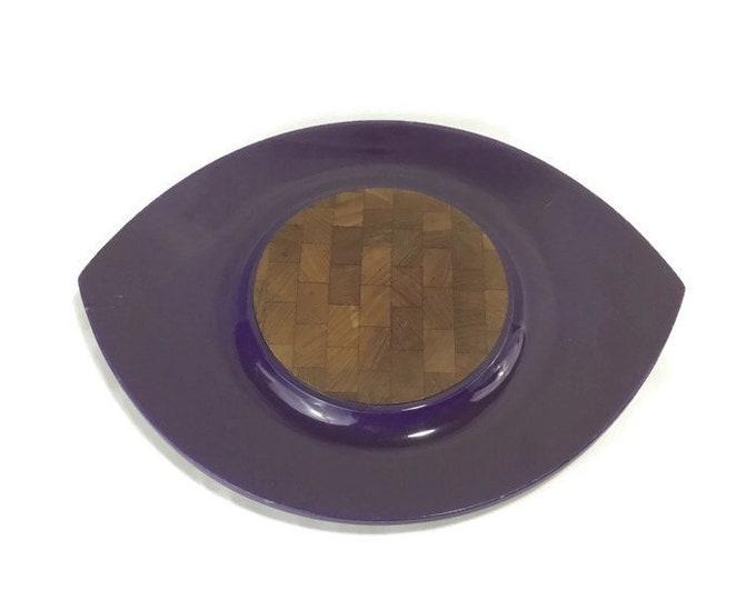 Vintage Dansk Festivaal 'Eyeball' Tray * Violet Lacquer