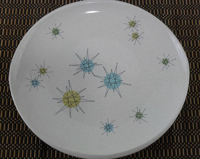 "10-7/8"" Dinner Plate * Gladding McBean Franciscan Starburst * Atomic Age Plate * Mid Century Dishes"