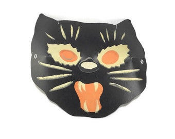 Vintage Paperboard Halloween Mask* Luminous Masklite