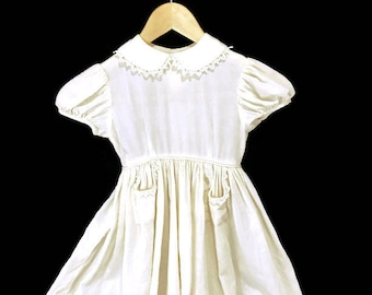 Vintage Childs Dress * Hand-Made * Wool Crepe * Special Occasion