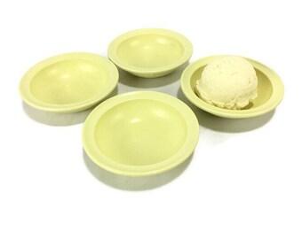 Vintage Prolon Melmac Fruit Bowls * Set of 4 Melamine Sauce Bowls