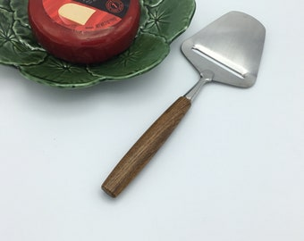 Danish Modern Cheese Slicer with Teak Handle * Cheese Knife * Cheese Server * Cheese Plane