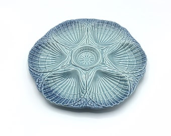 Majolica Oyster Plate * Olfaire * Portugal